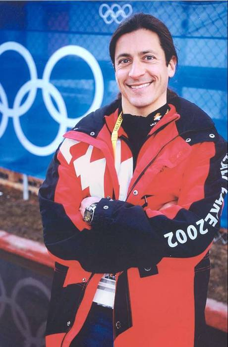 Dr. Brian Krabak at the Salt Lake Olympic Games.