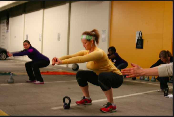 Tara and Frisbie had really nice squats to begin with, but both squats were made better by counterweighting.
