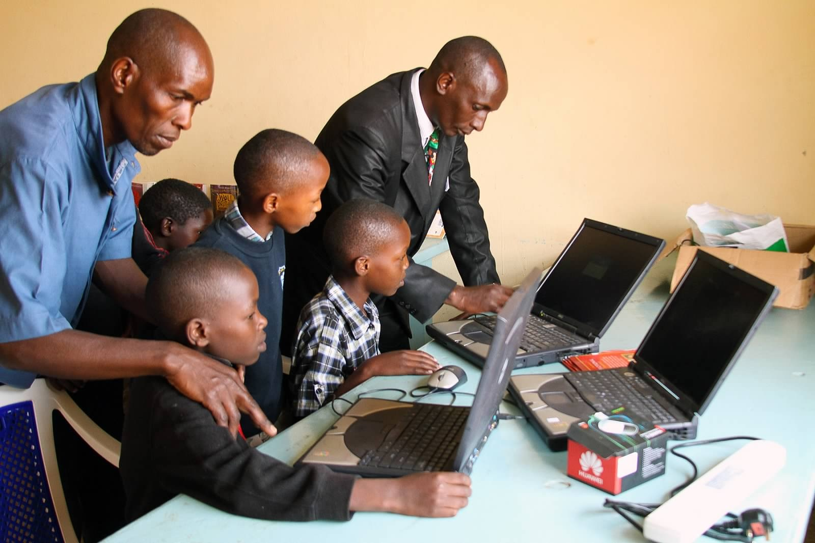 Computers restored and brought to Kenya for the children.