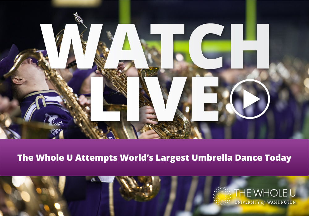 world's largest umbrella dance UW
