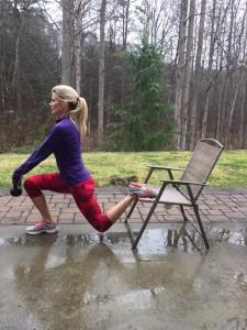 Split leg squat position 2