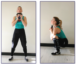 counter weight squat