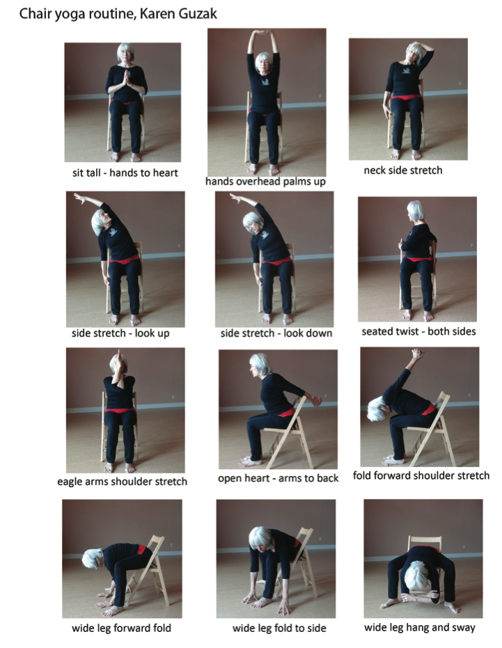 The Best Printable Chair Yoga Routines Dana Website