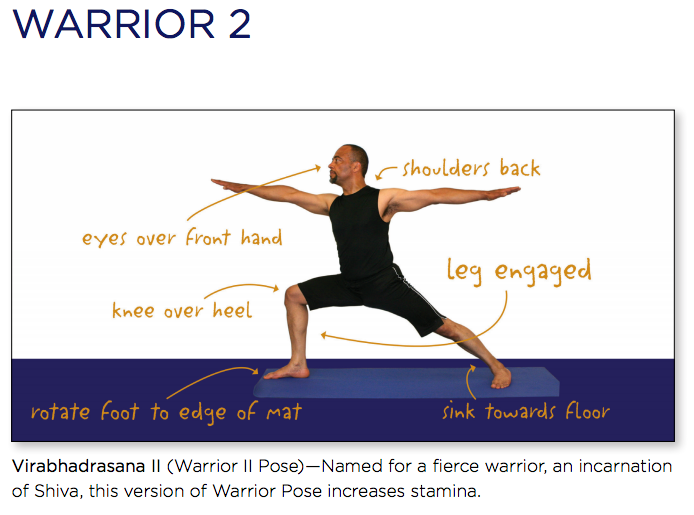 yoga warrior 2
