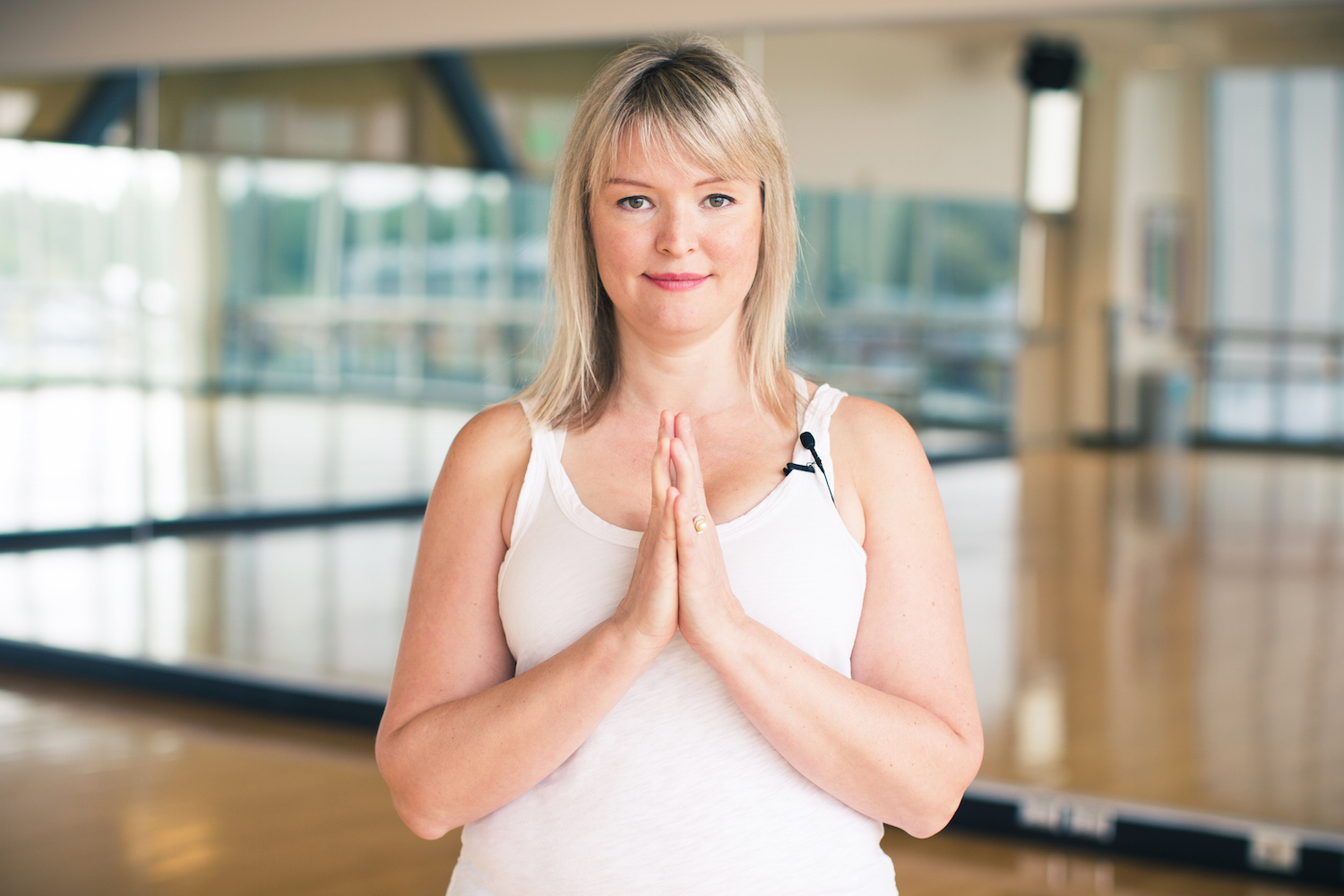 "Mandy Morneault has taught yoga for eight years. ""Yoga is not about achieving a goal,"" she said. ""Like life, it's about the joyful journey of learning more about yourself."""