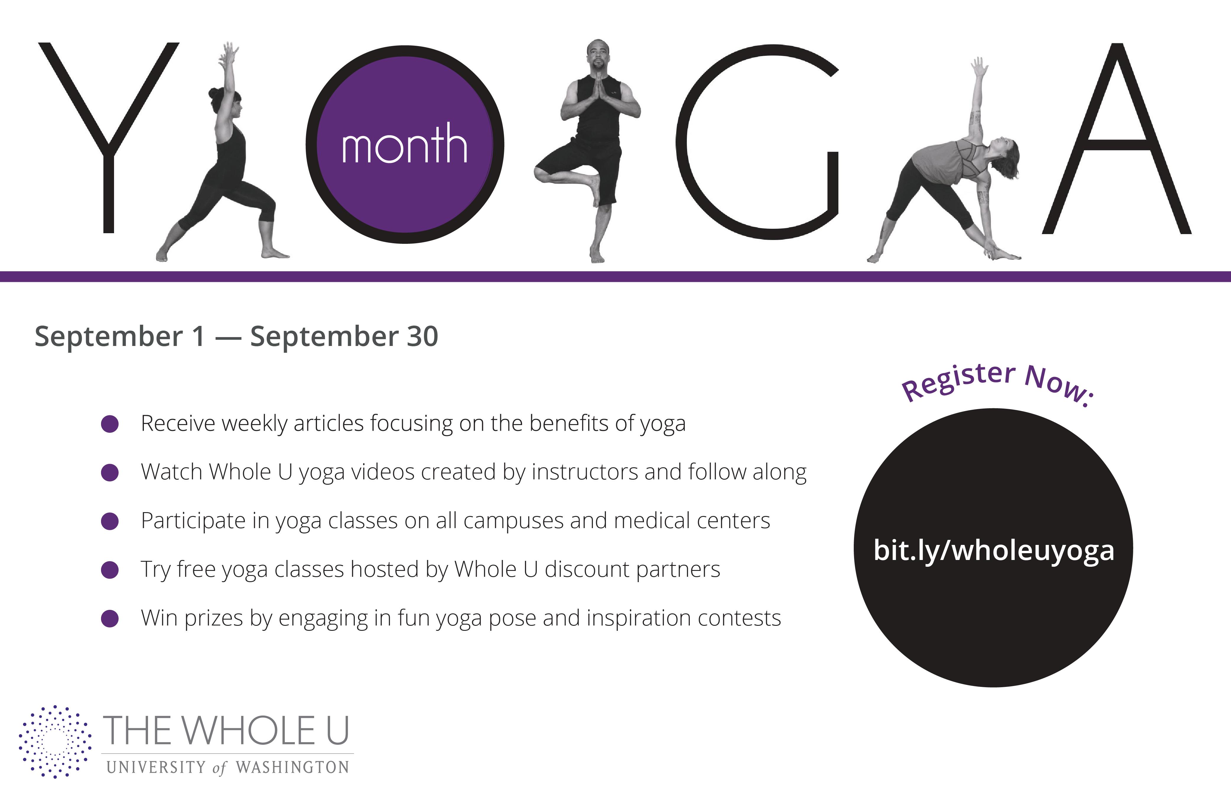 UW national yoga month