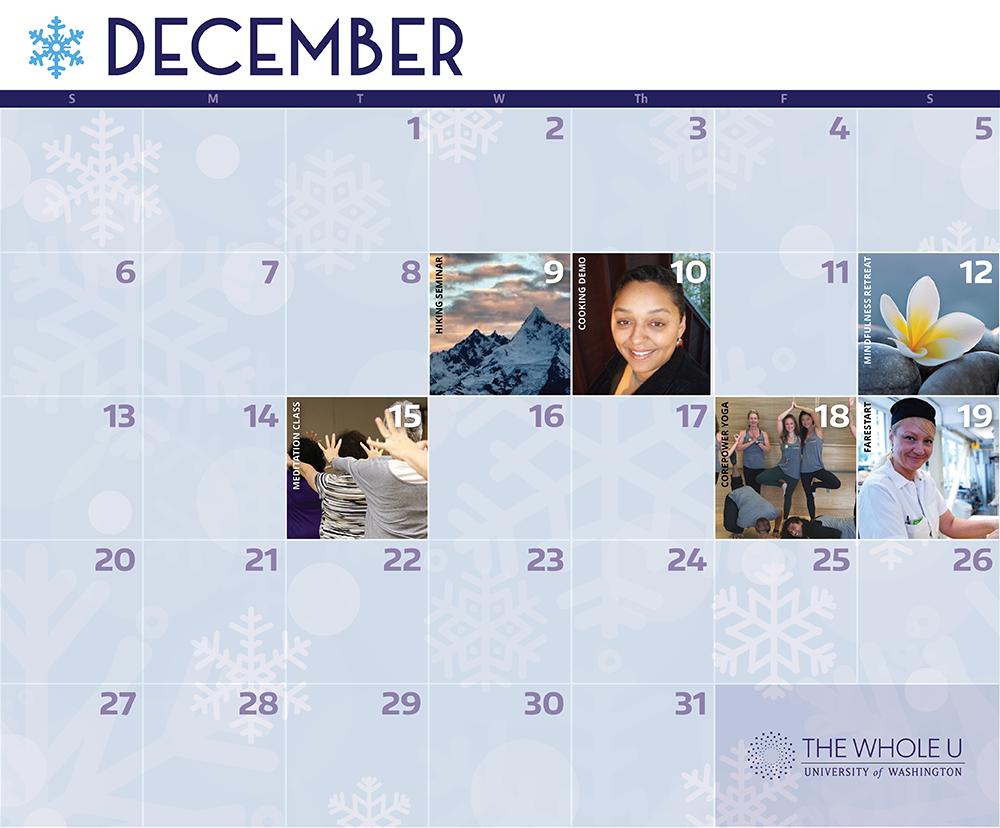 whole u december events