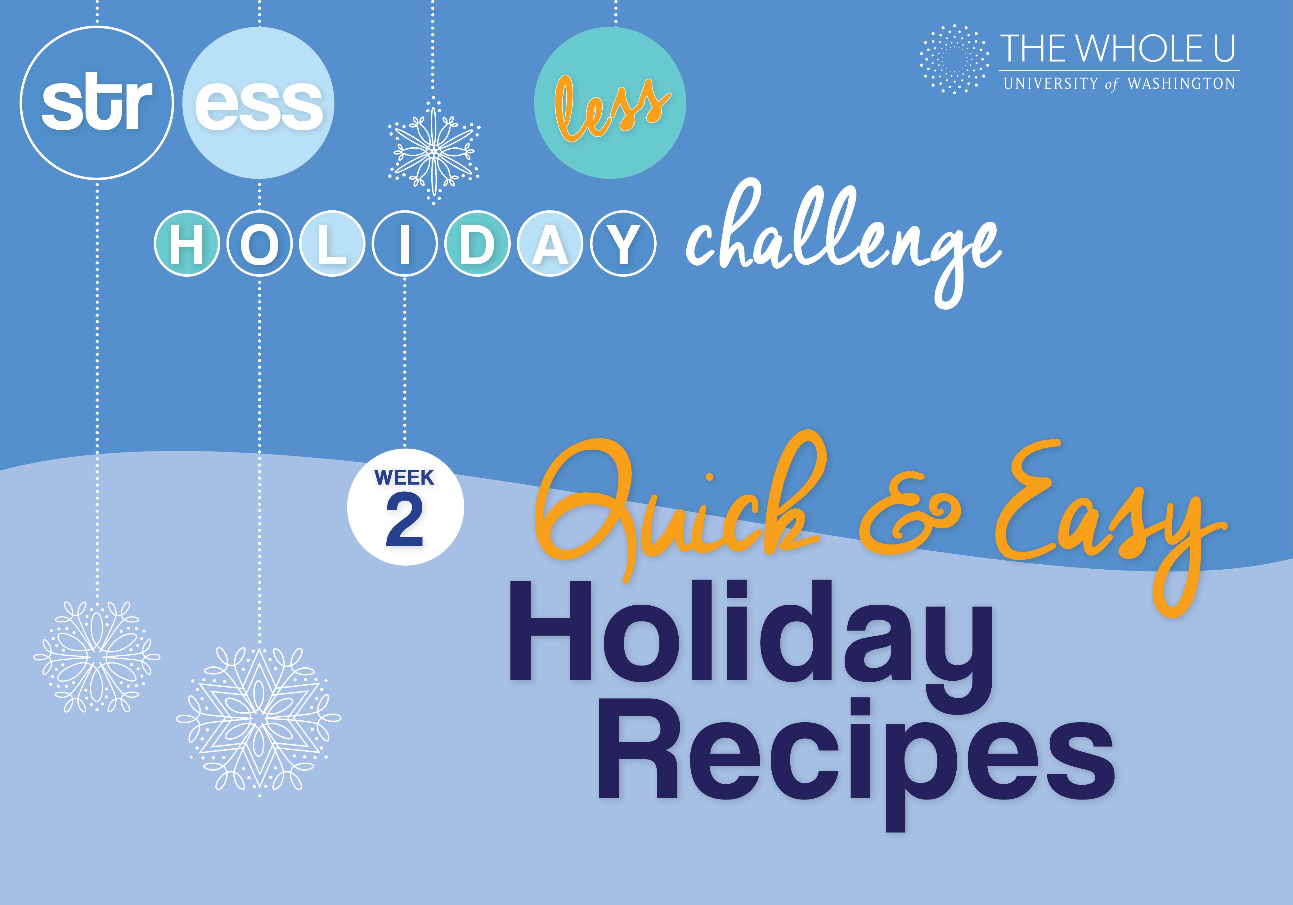 quick & healthy holiday recipes