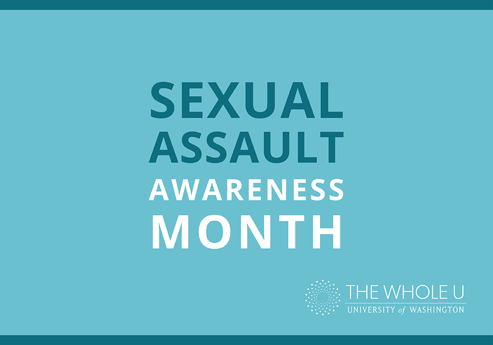 UW sexual assault awareness month