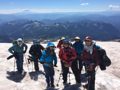 The Kirchoff Fitness Team on Mount Rainier training for their Peru trip.