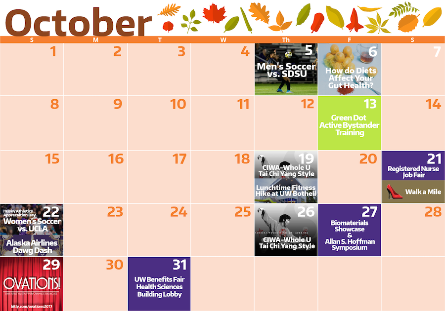 October Events at the UW   The Whole U